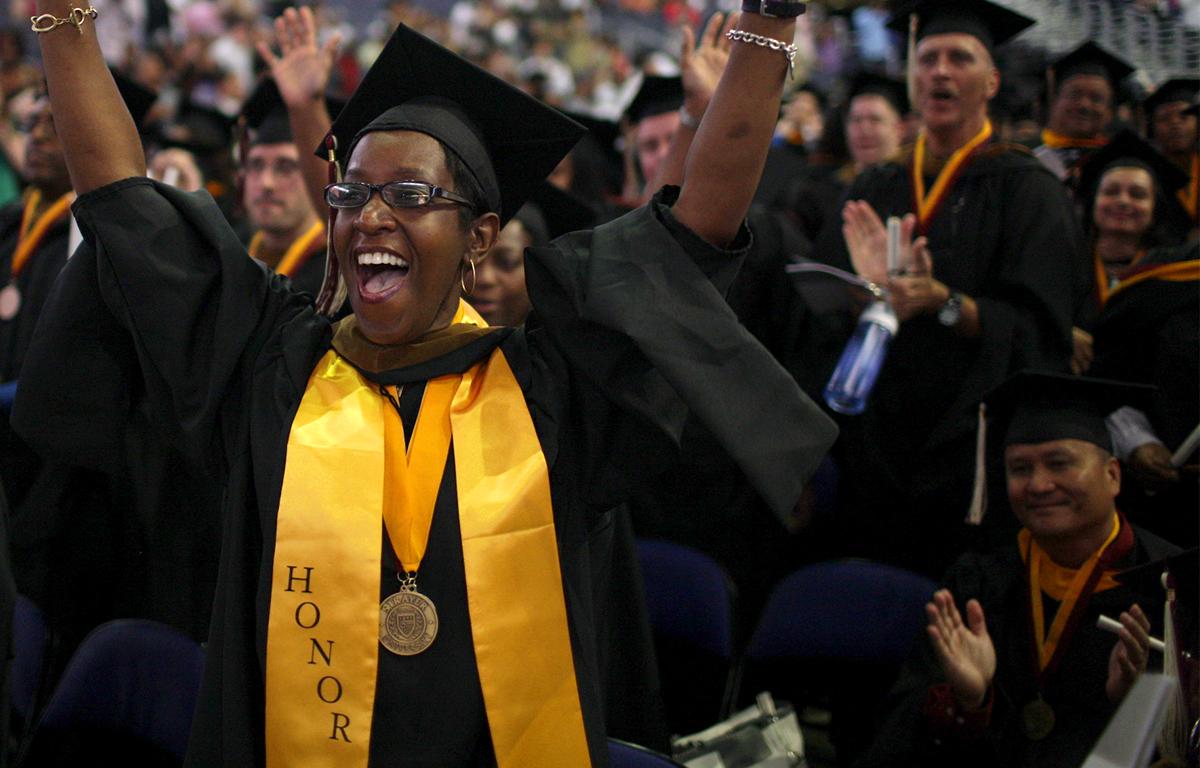 George Mason University Graduation 2020.Strayer Commencement